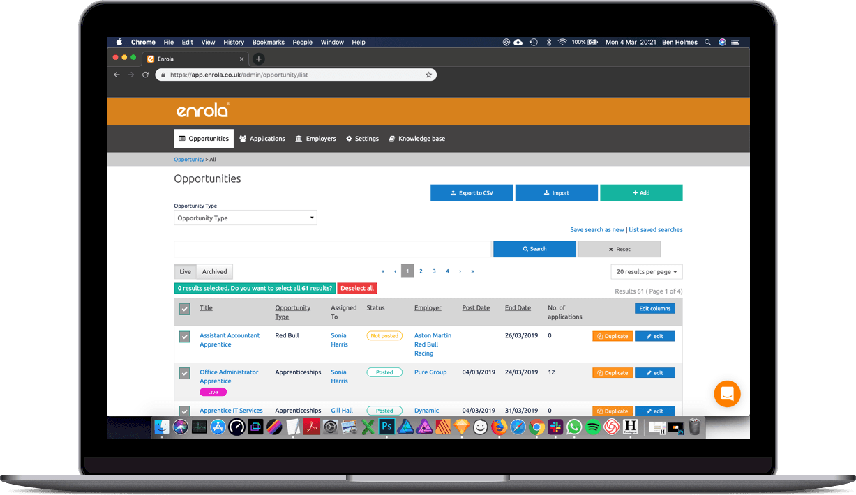 Job posting is easier with enrola